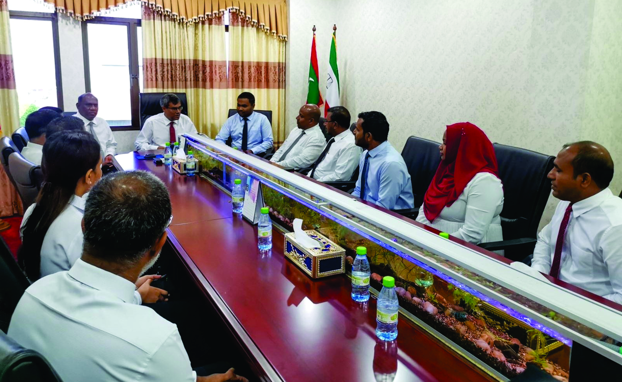 Chief Justice and Justices of the Supreme of the Maldives has visited the superior courts of Maldives