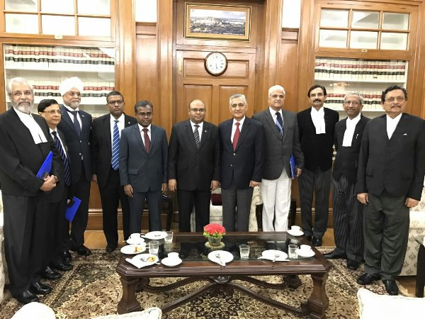 Honorable Chief Justice of the Maldives, Abdulla Saeed returns to Male' after an official visit to New Delhi, India, on an invitation of Honorable Chief Justice of India